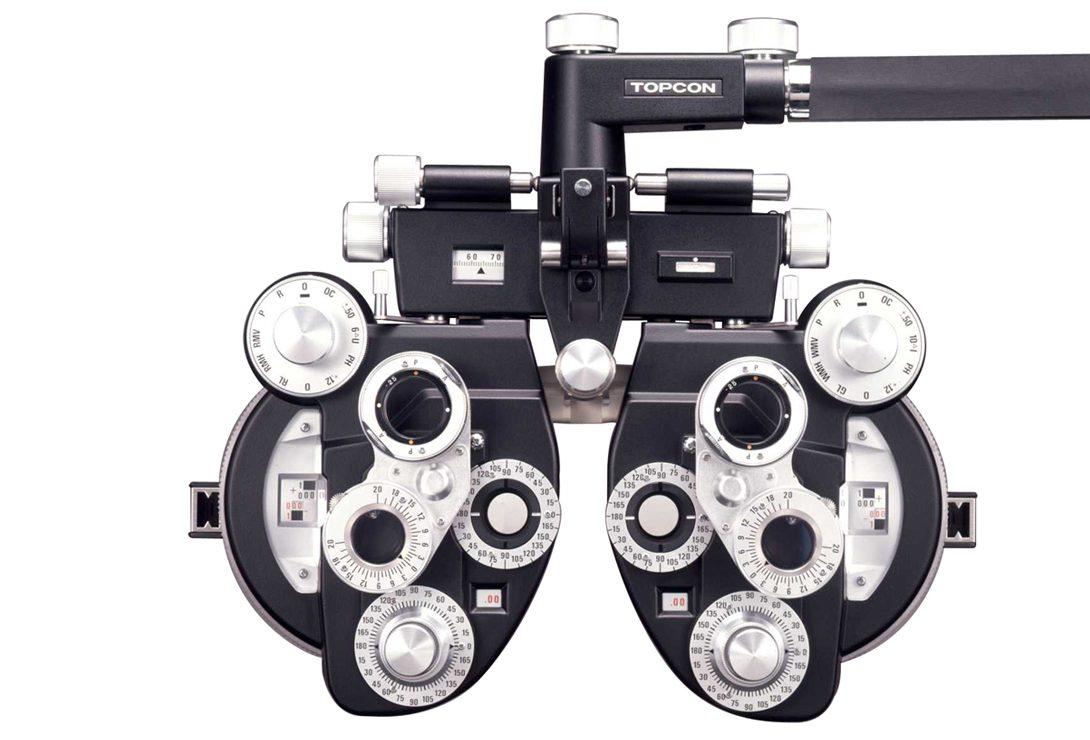 Appareil de mesure pour examen de la vue réalisé par un optométriste