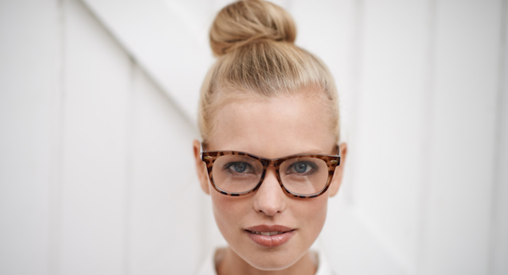 Young-women-wearing-glasses-tied-hair